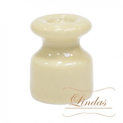 Изолятор керамический iLindas, цвет: слоновая кость