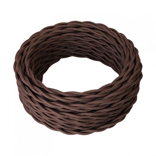 Ретро провод силовой (ГОСТ), цвет: коричневый. Retro Electro (ОКБ «Гамма»)