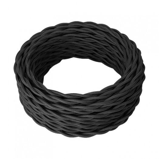 Ретро провод силовой (ГОСТ), цвет: чёрный. Retro Electro (ОКБ «Гамма»)