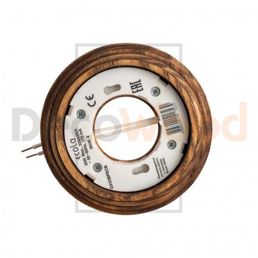 Декоративная деревянная накладка с механизмом для светодиодных ламп типа GX53