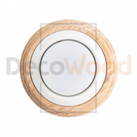 Декоративная деревянная накладка для светодиодных светильников Ecola