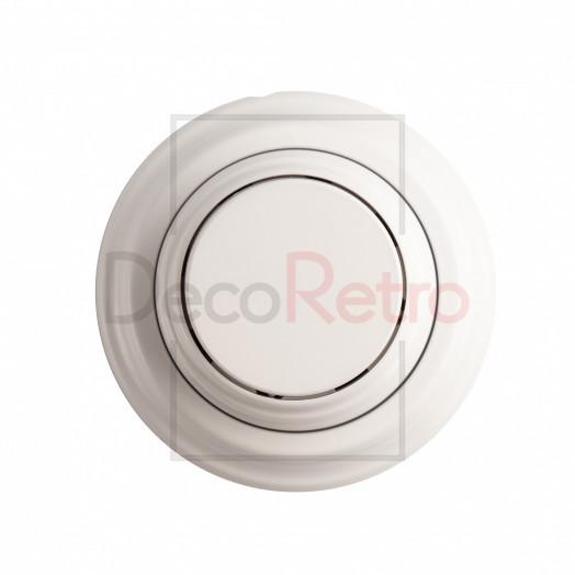 Ретро выключатель 1-клавишный, пластик, цвет: белый