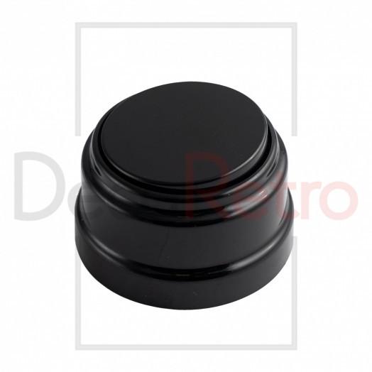 Ретро выключатель 1-клавишный, пластик, цвет: черный