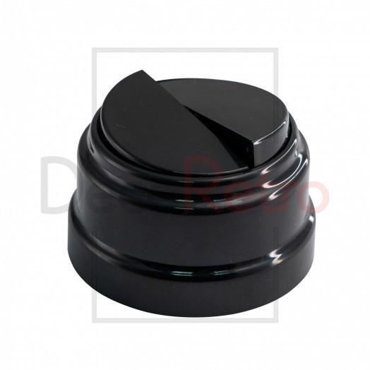 Ретро выключатель 2-клавишный, пластик, цвет: черный
