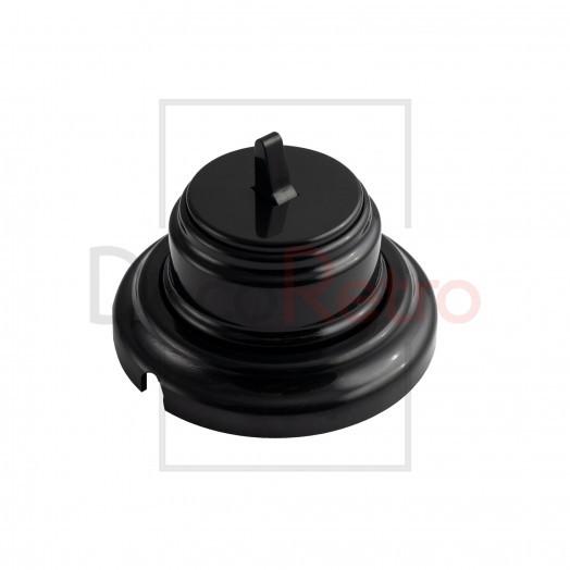 Тумблерный 1-клавишный ретро выключатель, пластик, цвет: черный