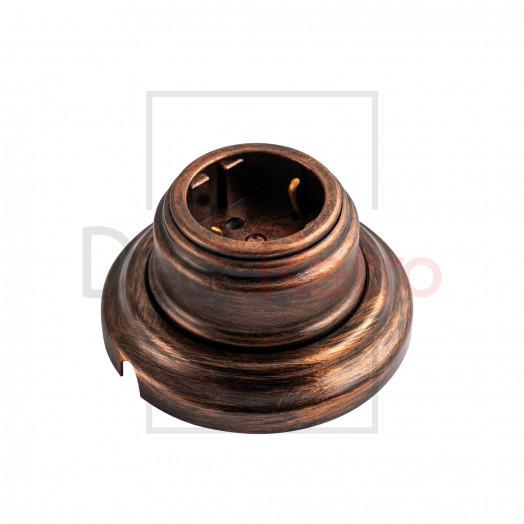 Ретро розетка с зазем.контактом, 16А-250 В, пластик, цвет: медь