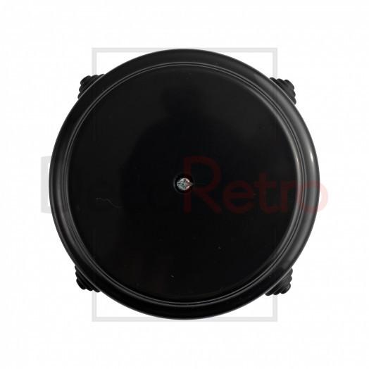Распределительная коробка D80 мм (с каб.вводами), пластик, цвет: черный