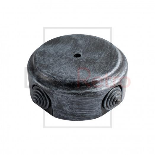 Распределительная коробка D80 мм (с каб.вводами), пластик, цвет: серебро