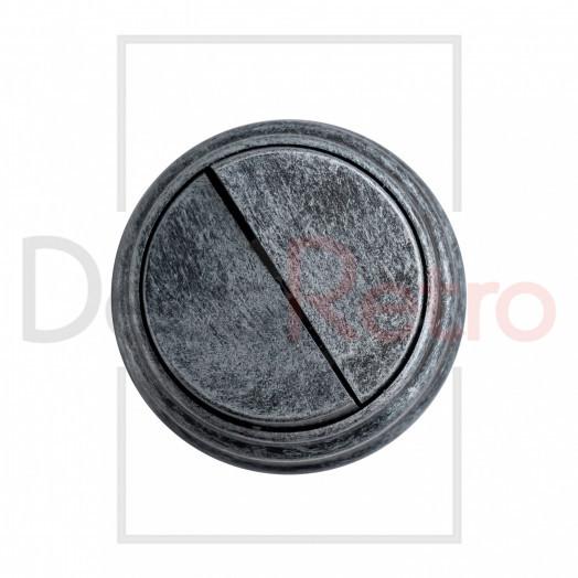 Ретро выключатель 2-клавишный, пластик, цвет: серебро