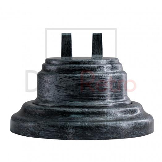 Тумблерный 2-клавишный ретро выключатель, пластик, цвет: серебро