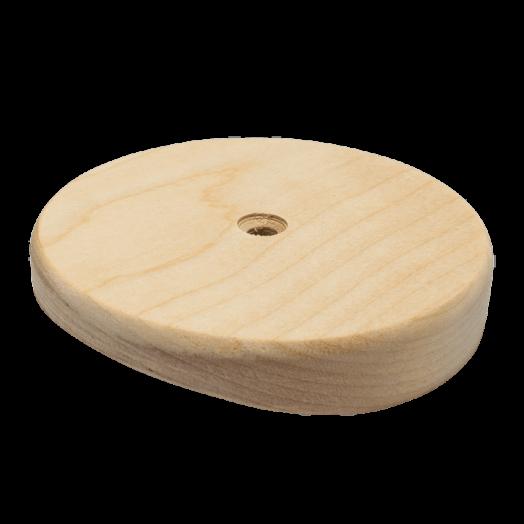 Накладка, круглая для светильников, 90 мм, берёза