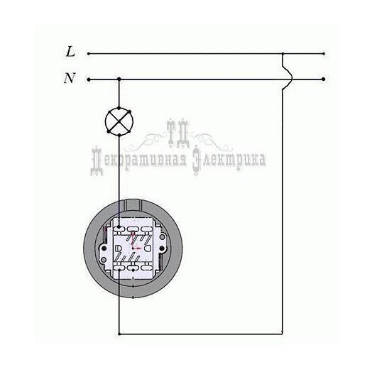 Выключатель для открытого монтажа Retrika, цвет: мрамор