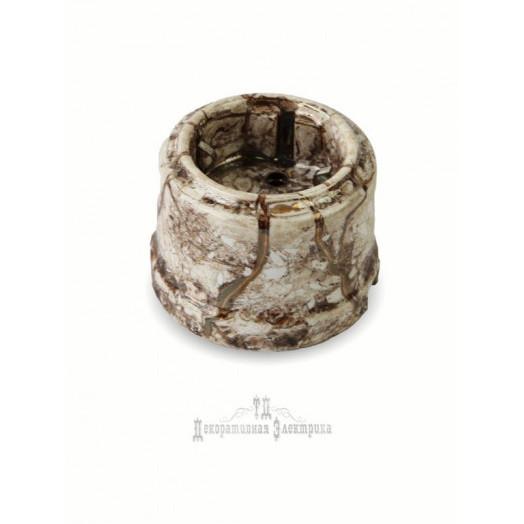 Розетка с заземляющим контактом Retrika; цвет: мрамор
