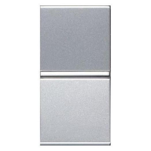 Переключатель одноклавишный ABB Zenit, узкая клавиша, цвет: серебристый