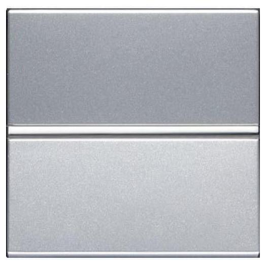 Переключатель одноклавишный ABB Zenit, цвет: серебристый