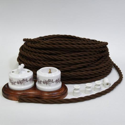 Витой провод Lindas, цвет: коричневый