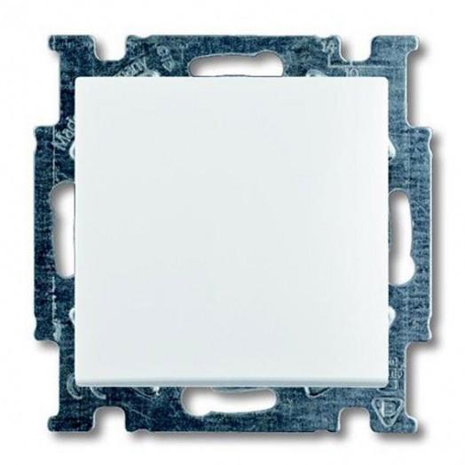 Переключатель одноклавишный ABB Basic 55, альпиский белый