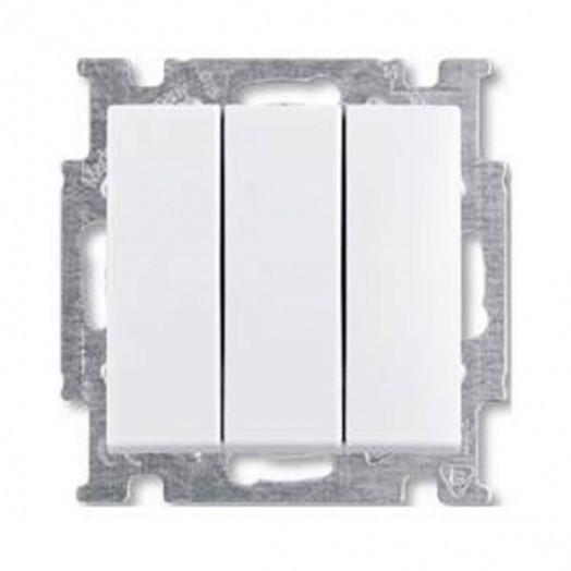 Выключатель трёхклавишный ABB Basic 55, альпиский белый