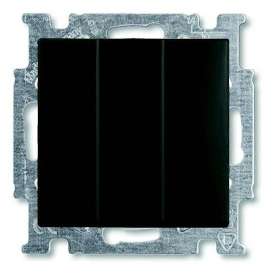Переключатель трёхклавишный ABB Basic 55, Chateau-Black