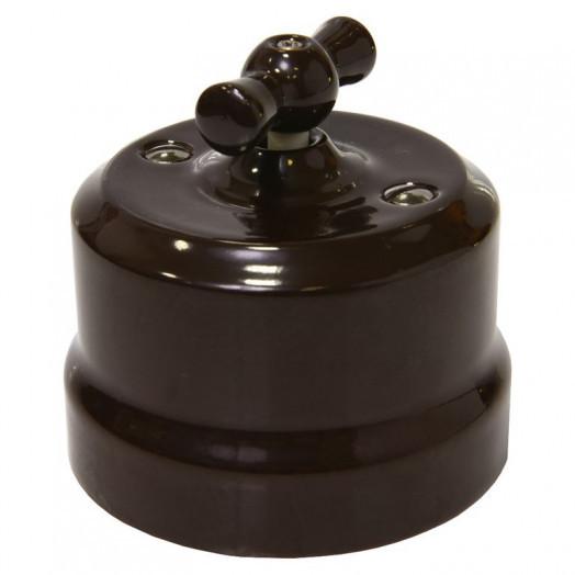 Выключатель поворотный Lindas, цвет: коричневый