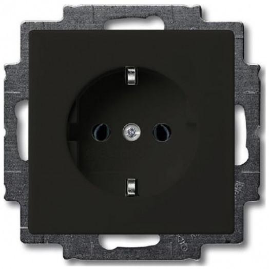 Розетка ABB Basic 55, цвет: Chateau-Black