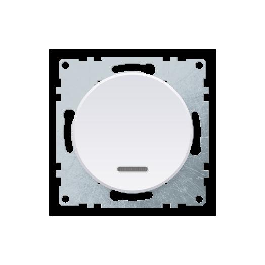 Выключатель одноклавишный OneKey с подсветкой, цвет белый