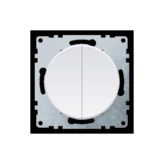 Переключатель двухклавишный OneKey, цвет белый