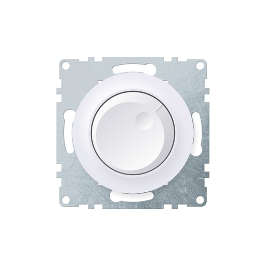 Светорегулятор OneKey 600Wдля ламп накаливания и галогенных ламп, цвет белый