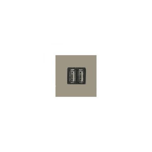 Розетка USB двойная для зарядки 2x750 МА/1Х1500 МА, ABB Zenit, цвет: шампань
