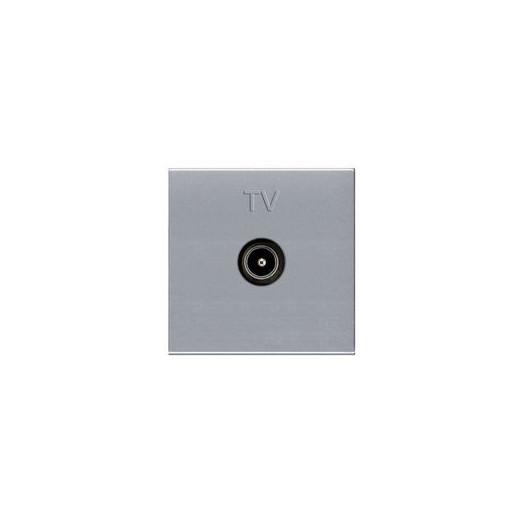 Розетка TV одиночная, ABB Zenit, цвет: серебристый