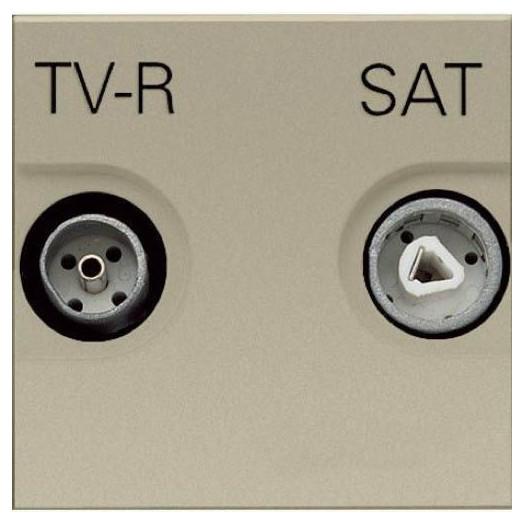 Розетка TV-R/SAT оконечная ABB Zenit, цвет: шампань