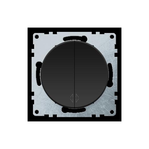 Переключатель двухклавишный OneKey, цвет чёрный
