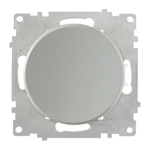 Выключатель одноклавишный OneKey с подсветкой, цвет серый