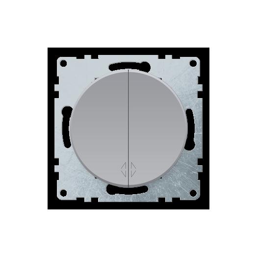 Выключатель двухклавишный OneKey, цвет серый