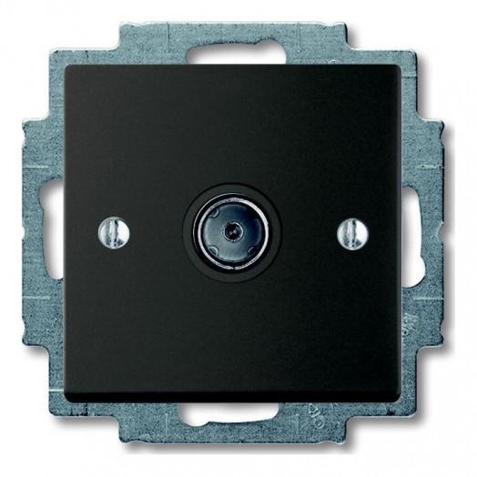 Розетка ABB Basic 55 телевизионная, цвет: Chateau-Black