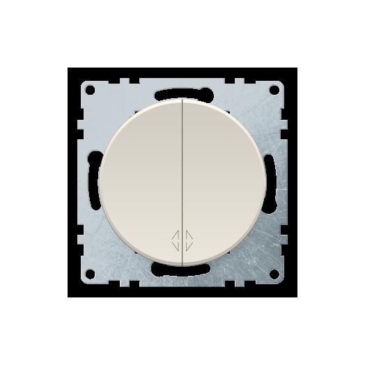 Переключатель двухклавишный OneKey, цвет бежевый