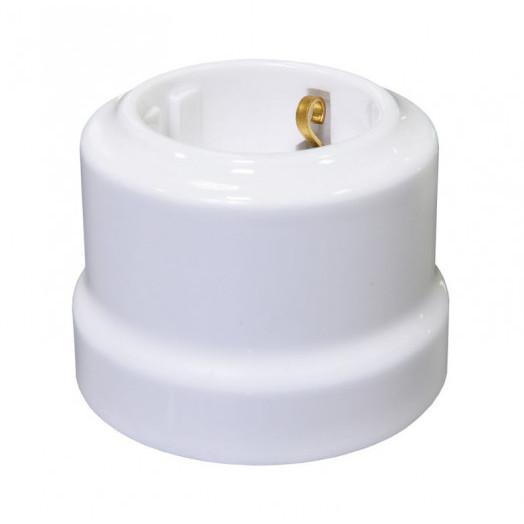 Розетка с заземлением Lindas, цвет: белый