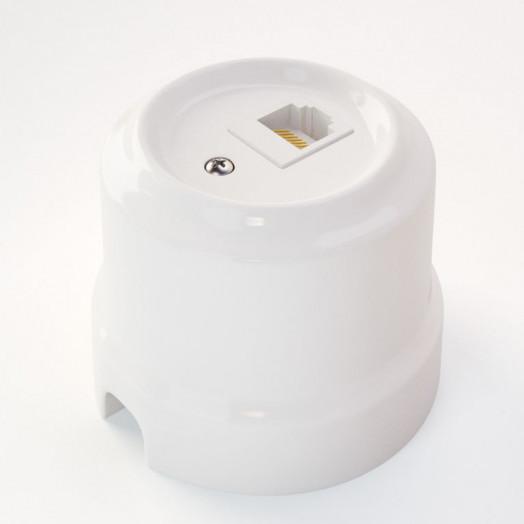 Розетка компьютерная RJ-45 Lindas, цвет: белый