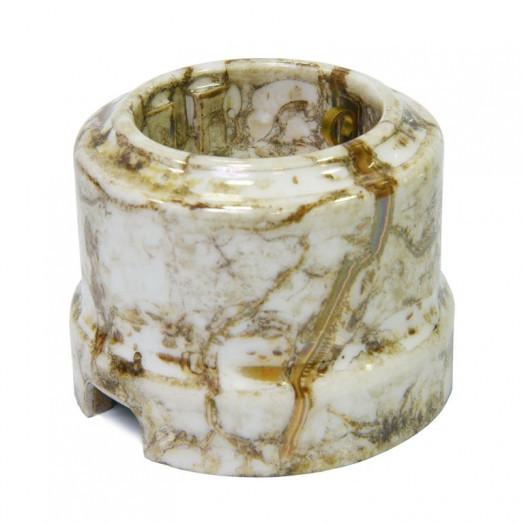 Розетка с заземлением Lindas, цвет: мрамор