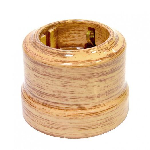 Розетка с заземлением Lindas, цвет: кедр