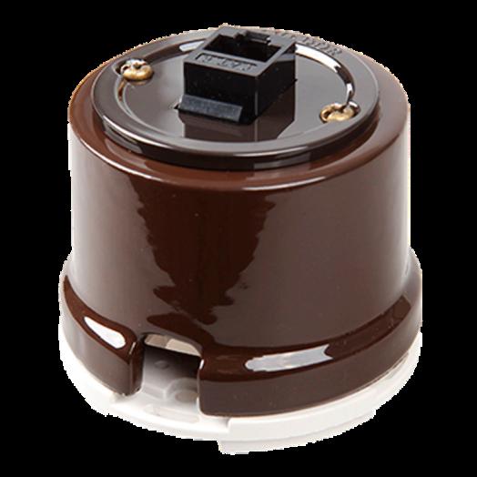 Розетка компьютерная RJ-45 Salvador, цвет: коричневый