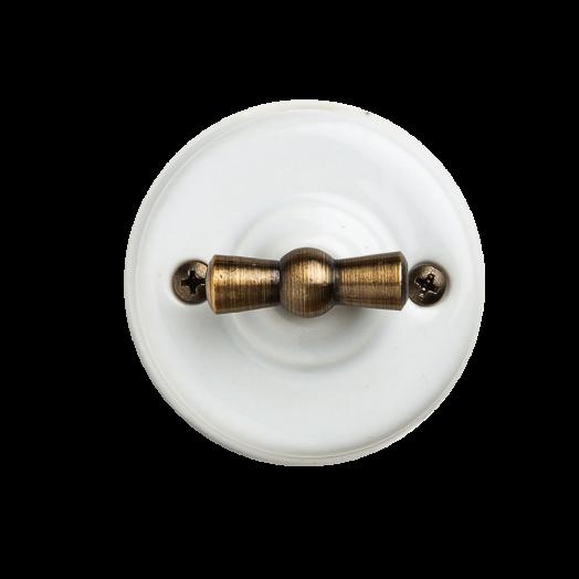 Выключатель поворотный Salvador, цвет: белый